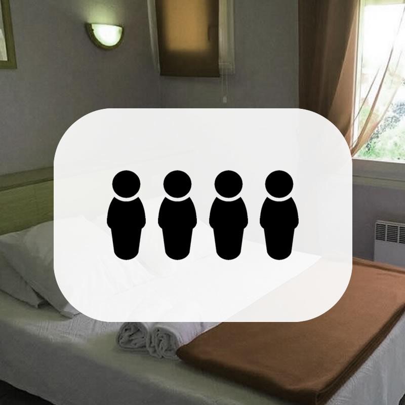Reservation chambre - Chambre Quadruple