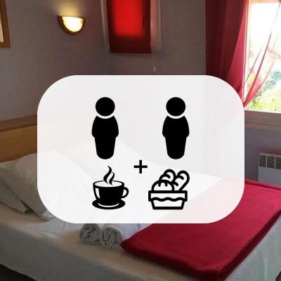 Chambre Double avec 2 petits-déjeuner